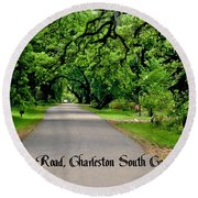 Canopy Road Round Beach Towel
