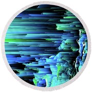 Can't Take The Sky From Me - Pixel Art Round Beach Towel