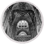 Canterbury Cathedral - Interior Round Beach Towel