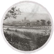 Canterbury, Kent, England Seen From Round Beach Towel