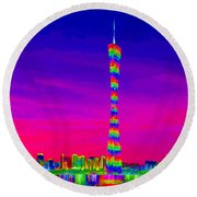 Canton Tower  Round Beach Towel