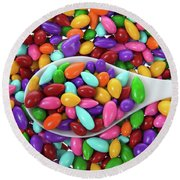 Candy Covered Sunflower Seeds Round Beach Towel