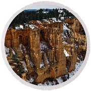 Canyon Alcoves Round Beach Towel