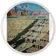 On The Banks Of The San Juan Round Beach Towel