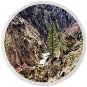 Canyon And Lower Falls Round Beach Towel