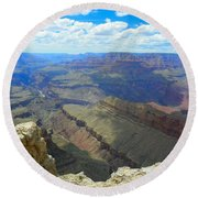 Canyon And Sky  Round Beach Towel
