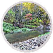 Canyon Autumn Round Beach Towel