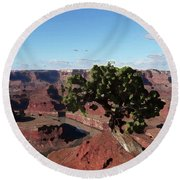 Canyon Impression Round Beach Towel