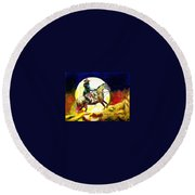 Canyon Moon Round Beach Towel