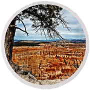 Canyon Overlook Round Beach Towel
