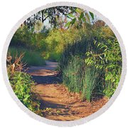 Canyon Path II Round Beach Towel