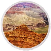 Canyon Peak Round Beach Towel