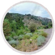 Canyon Road Round Beach Towel