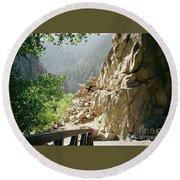 Canyon Rocks Horizontal Round Beach Towel