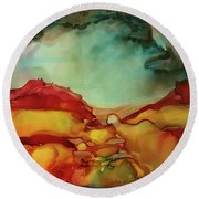 Canyon Storm Round Beach Towel