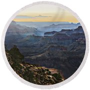 Canyon Sundown Round Beach Towel