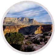 Canyon Walls At Toroweap Round Beach Towel