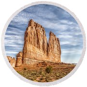Arches National Park 2 Round Beach Towel