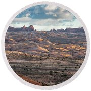 Arches National Park - Morning Round Beach Towel