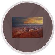 Canyonlands Overlook Utah Round Beach Towel