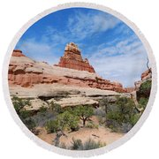 Canyonlands Spring Landscape Round Beach Towel