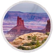Canyonlands Utah Views Round Beach Towel