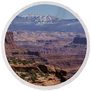 Canyons Of Dead Horse State Park Round Beach Towel