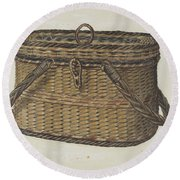 Cap Basket Round Beach Towel