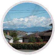 Cap Sante And Chuckanut Round Beach Towel