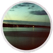 Cape Ann Sunset Round Beach Towel
