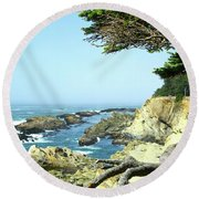 Cape Arago, Or. Round Beach Towel
