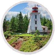 Cape Bear Lighthouse - 2 Round Beach Towel