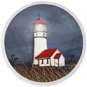 Cape Blanco Glow Round Beach Towel