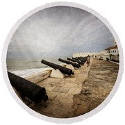 Cape Coast Castle Round Beach Towel