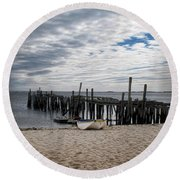 Cape Cod Bay Round Beach Towel