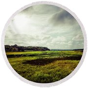 Cape Cod Marsh 1 Round Beach Towel