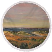 Cape Cod Marsh Round Beach Towel
