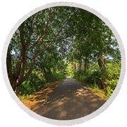 Cape Cod Rail Trail Trees Eastham Ma Round Beach Towel