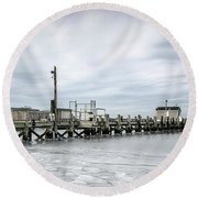 Cape Cod Winter Round Beach Towel