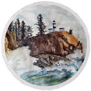 Cape Disappointment Round Beach Towel