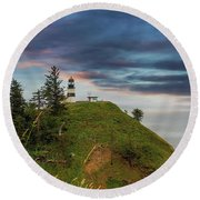 Cape Disappointment After Sunset Round Beach Towel