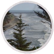 Cape Disappointment Beach Round Beach Towel