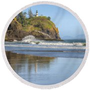 Cape Disappointment - Vertical Round Beach Towel