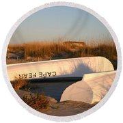 Cape Fear Boats Round Beach Towel
