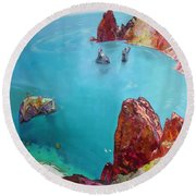 Cape Fiolent Round Beach Towel