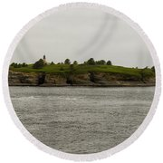 Cape Flattery Lighthouse Round Beach Towel