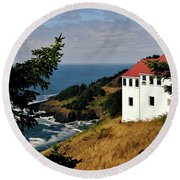 Cape Foulweather Point Round Beach Towel