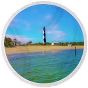 Cape Lookout 1 Round Beach Towel by Betsy Knapp