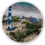 Cape Lookout 4 Round Beach Towel