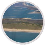 Cape Lookout Lighthouse Distance Round Beach Towel